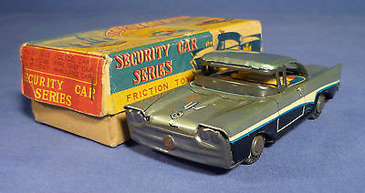 Japan Blech Auto Friktion 50's vintage tin toy friction car boxed B171