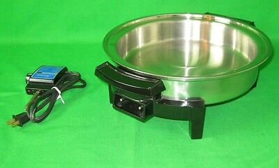 "LIFETIME  Electric Frying Pan Skillet with cord 11"" stainless steel USA"
