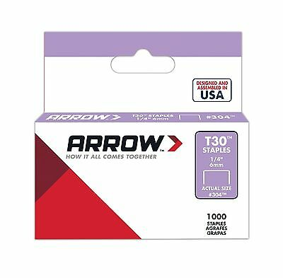 Arrow Fastener 304 Genuine 1/4-Inch Thin Wire Staples for T30 Staple Gun - NEW