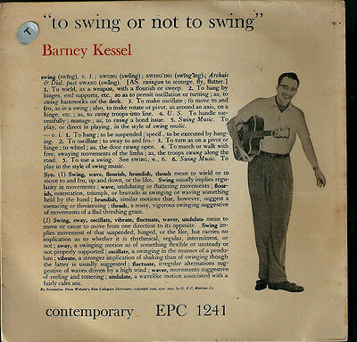 BARNEY KESSEL.To swing or not to swing.RARE UK EP Contemporary.GUITAR/JAZZ/BLUES