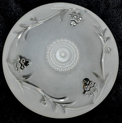 Antique Vintage Frosted Art Deco Grapes Glass Replacement Globe Ceiling Shade