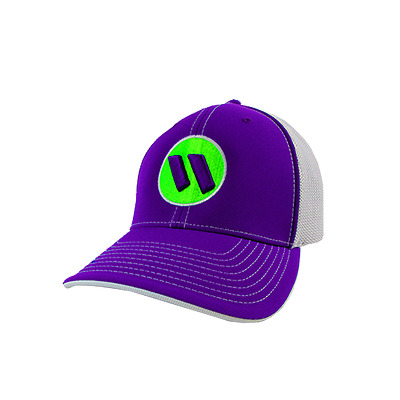 Worth Hat by Pacific 404M PURPLE/WHT/PURP/WHT/NEON GREEN LG/XL (7 3/8- 8),NEW