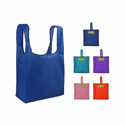 BeeGreen Reusable Grocery Bags Set of 5 Grocery Tote Foldable into Attached P...