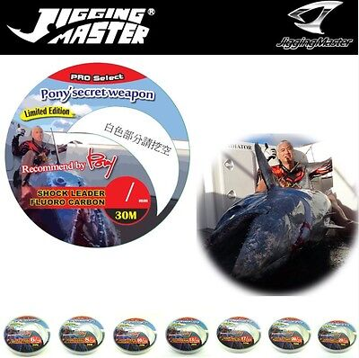 "JIGGING MASTER  FLUORO CARBON SHOCK LEADER LINE ""PONY SECRET WEAPON"" 30m"