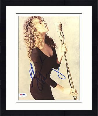 "Framed Mariah Carey Signed 8""x 10"" Holding Microphone Photo"