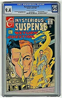 MYSTERIOUS SUSPENSE 1 1968 CGC 9.4 OW-W Beth Pedigree THE QUESTION STEVE DITKO