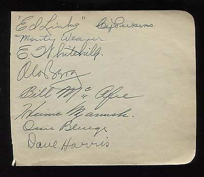 Moe Berg and Heinie Manush Signed Album Page From 1935 Autographed Spy