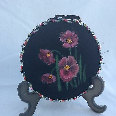 Vintage Hand made beaded in cushion