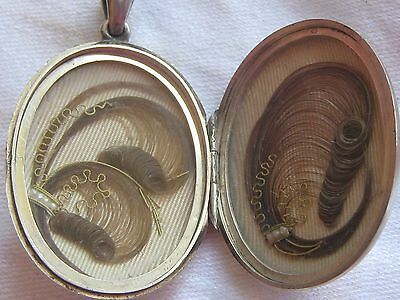 Antique Mid Victorian   Side Opening Silver Mourning Locket