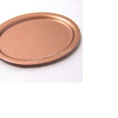 Dolls House 12th Scale Copper Oval Platter