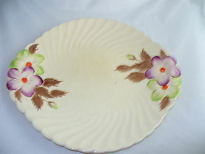 Lovely Vintage Royal Staffordshire Clarice Cliff Plate Embossed Wildflowers