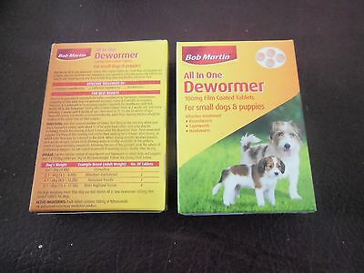 Bob Martin All In One Dewormer 100 mg for Small dogs & puppies x 2 packets