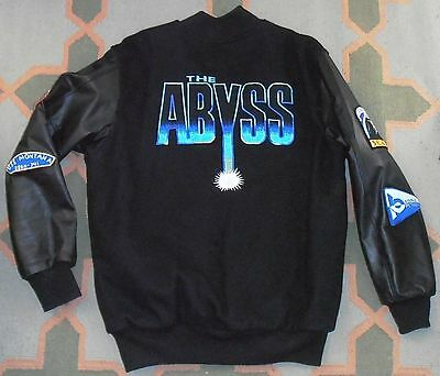 New THE ABYSS James Jim Cameron 1989 sci fi film movie crew varsity jacket