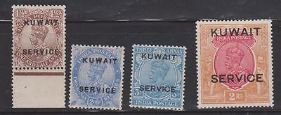 KUWAIT 1923 1.5a AND 2.6a 1929 3a AND 2r MNH