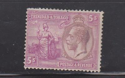 TRINIDAD AND TOBAGO 1922 5s PURPLE AND MAUVE MOUNTED MINT