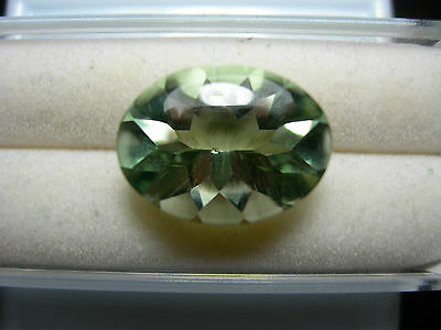 8.70ct fine Green Prasiolite Gem fancy Buff Top oval cut Brazil gemstone GENUINE