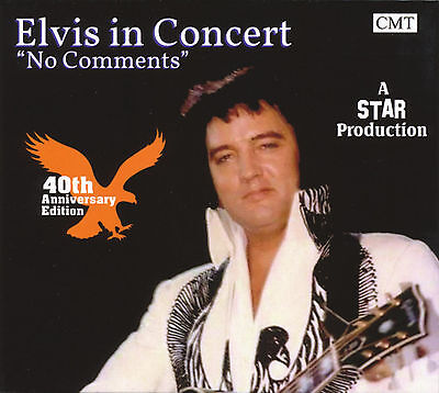"""Elvis Collectors CD - ELVIS IN CONCERT – """"NO COMMENTS"""" - Free Shipping"""