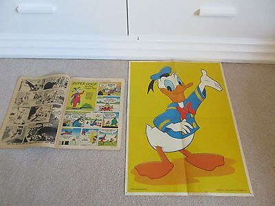 Walt Disney's  Donald & Mickey comic,No 1 + free gift poster, March 4th 1972-