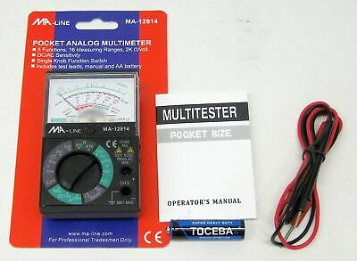 MA-Line Pocket Analog Multimeter with 5 Functions MA-12814