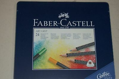 Faber-Castell 24 Art Grip Ergonomic Color Pencils