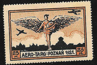 Poland  Poznan Air Pair 1921 One Genuine & Expertised.