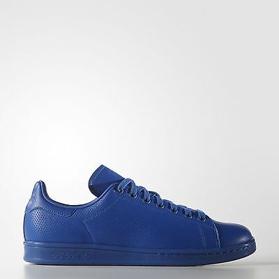 adidas Originals Men's Stan Smith Perforated Leather Blue Athletic Sneakers