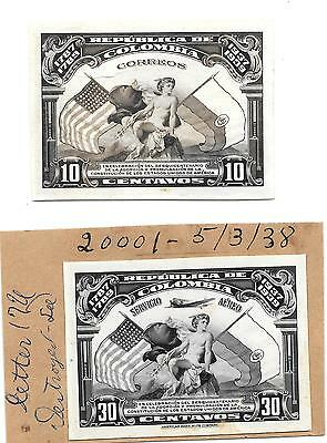 COLUMBIA PHOTOGRAPHIC PROOFS ? 1938. AMERICAN BANK NOTE Co.