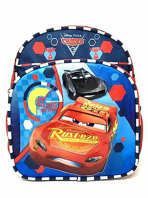 "2017 Disney Pixar Cars 3 Boys 10"" Mini Toddler School Backpack - Lightning"