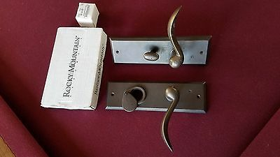Rocky Mountain entry door handware motise lock set, medium bronze, backset 2.75""
