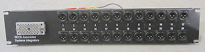 24-Port XLR Patch Panel with EDAC