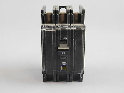 Square D 3 Pole, 50A Circuit Breaker QOU350