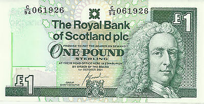 Rare £1 One Pound Scottish Bank Note Uncirculated Royal Bank of Scotland
