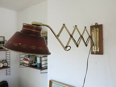 Vintage 50s Scissor Lamp 20th Century Wall Lamp