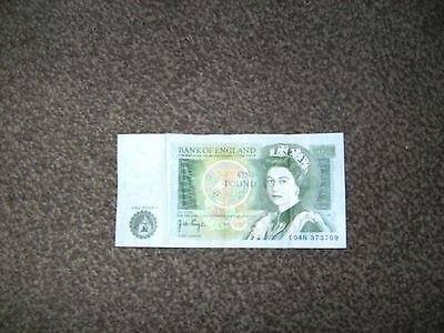 bank of england £1 note  sir isaac newton on the back