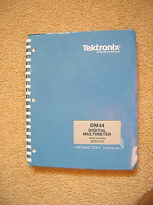 Tektronix DM44 digital multimeter service and instruction manual