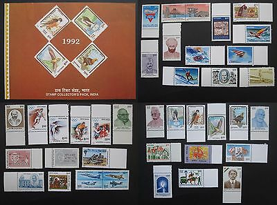 INDIA complete year pack 1992 MNH stamps