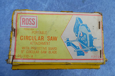 Vintage Ross Circular Saw Drill Attachment Boxed Not Black & Decker