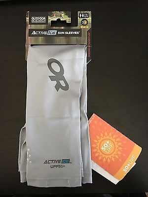 Brand New Outdoor Research Activeice Sun Sleeves L/XL color Alloy Free Shipping!