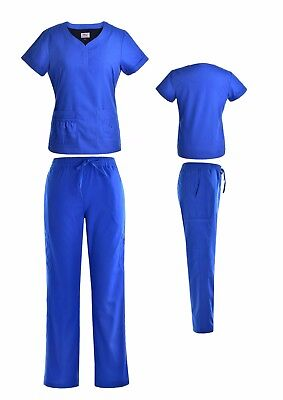 Stylish Women's Nursing Medical Scrub Set Top and Bottom Multiple Colors XS-2XL