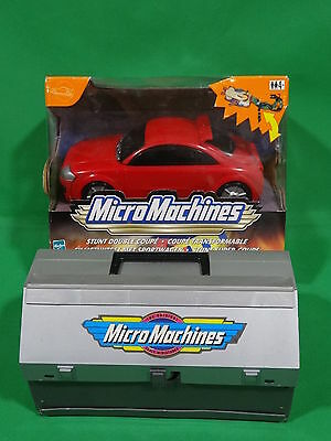Micro Machines Stunt double Coupe Boxed + Toolbox Bundle