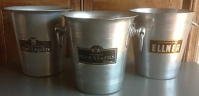 3 branded Vintage French Champagne, wine coolers, ice buckets,