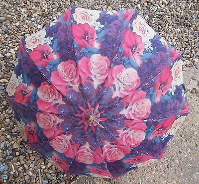 RETRO PARASOL rose patton  MADE IN ENGLAND