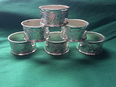 Set of 6 Mayell Silver Electro Plated Napkin Rings