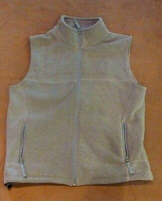 Cabelas Outerwear Zip Front Vest Polyester Knit Pale Green Lined Size Large NEW