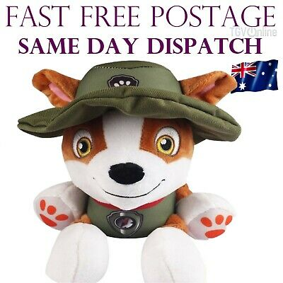 PAW PATROL TRACKER PLUSH DOLL PUPS DOG SOFT STUFFED TOY 20cm