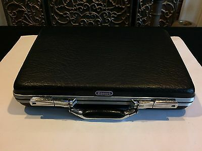Vintage American Tourister Escort Hard Shell Black Briefcase Business Case