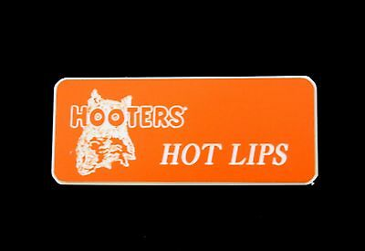 Hooters Uniform Hot Lips Name Tag Nametag Waitress Bartender Badge Pin