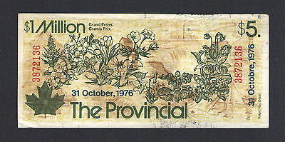 Canada, The Provincial Lottery, 1976