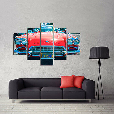 Huge Modern Abstract Art  Wall Oil Painting Luxury Car Head on Canvas NO FRAME