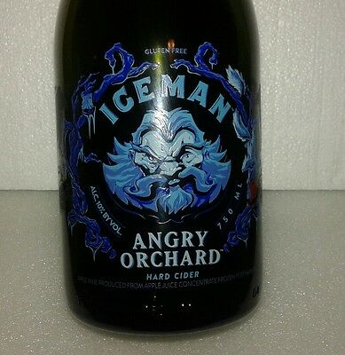 Angry Orchard Iceman Embossed Bottle